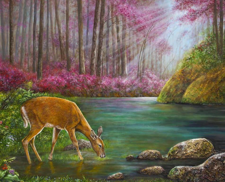 Deer Walk - Flame the Artist
